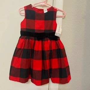 Carter's Black and Red Checkered Dress